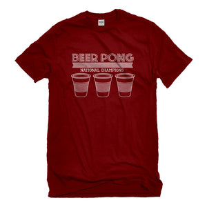 Mens Beer Pong National Champions Unisex T-shirt