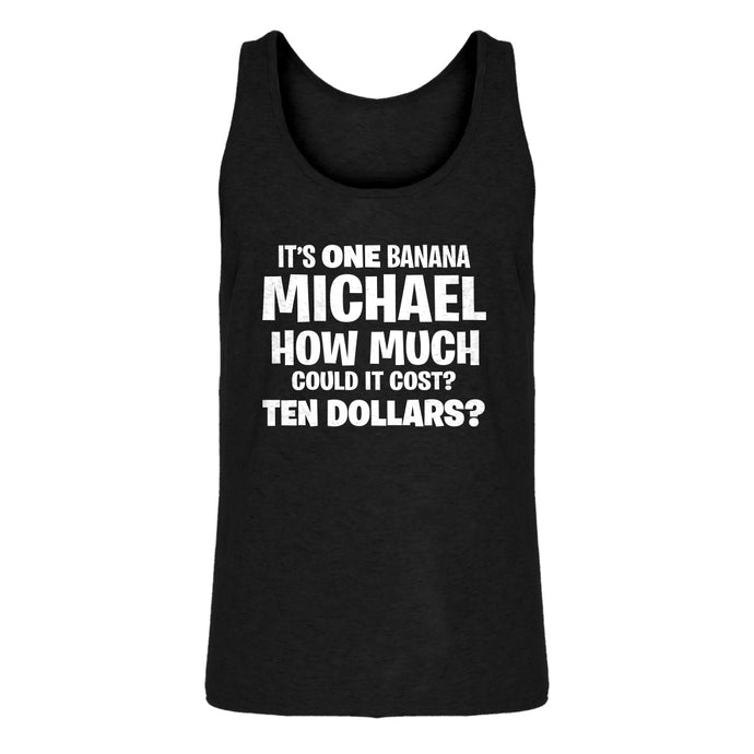 Mens Its ONE BANANA Michael Jersey Tank Top