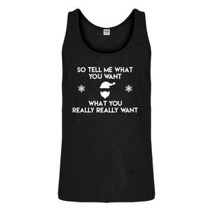 Tank Tell me what you want Mens Jersey Tank Top