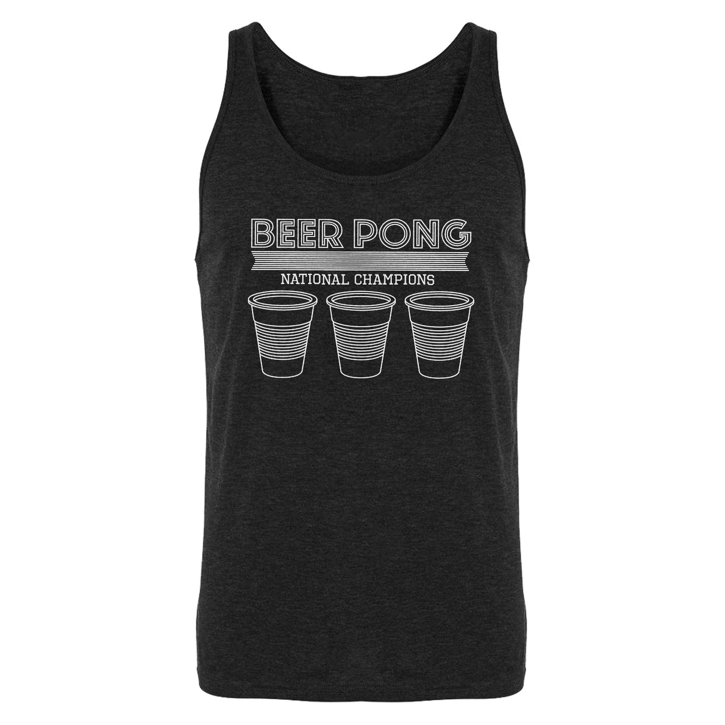 Tank Beer Pong National Champions Mens Jersey Tank Top