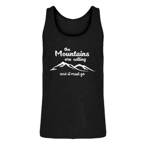 Mens The Mountains are Calling Jersey Tank Top