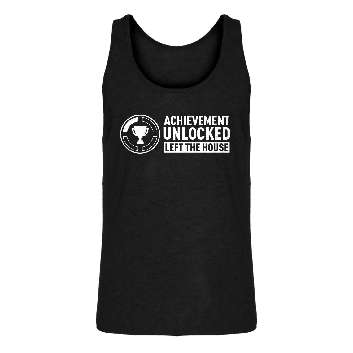 Mens Achievement Unlocked Left The House Jersey Tank Top