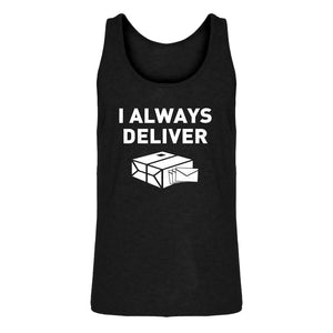 Mens I Always Deliver Jersey Tank Top