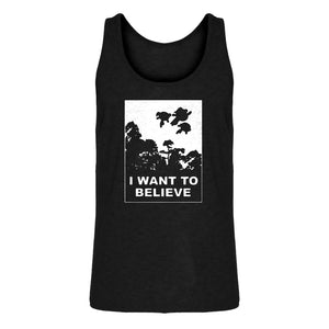 Mens I Want to Believe Super Girls Jersey Tank Top