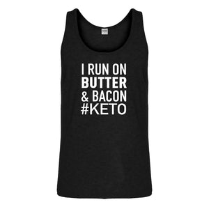 Tank I Run on Butter and Bacon Mens Jersey Tank Top