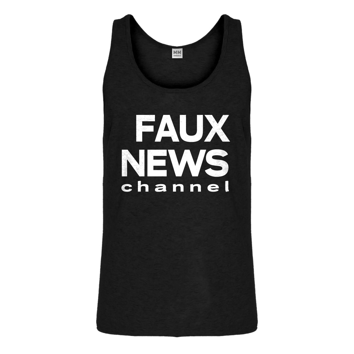 Tank Faux News Mens Jersey Tank Top