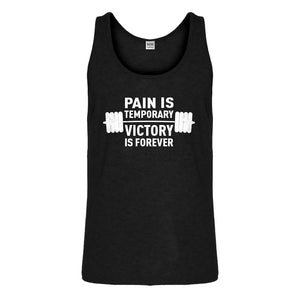 Tank Pain is Temporary Victory is Forever Mens Jersey Tank Top