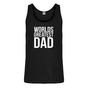 Tank Worlds Greatest Dad Mens Jersey Tank Top