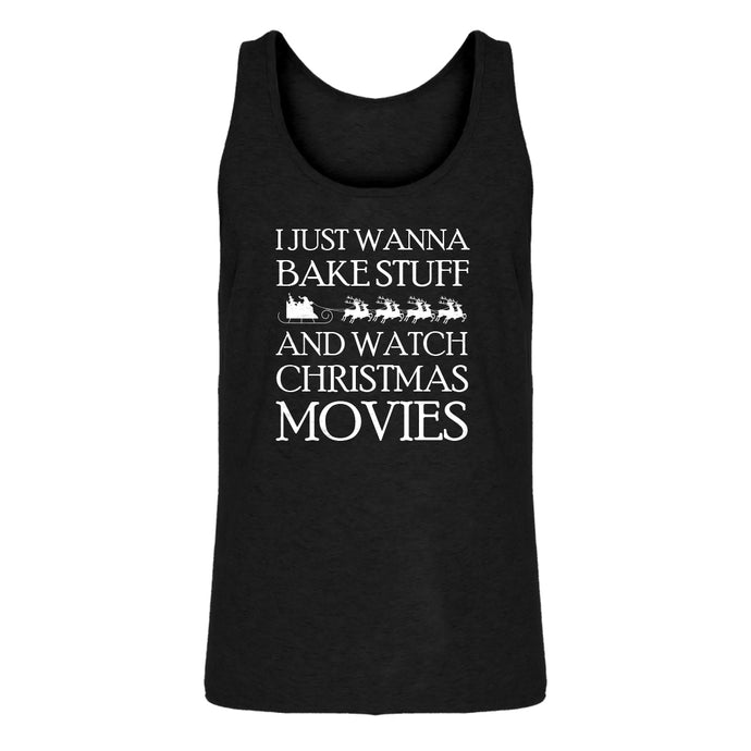 Mens Bake Stuff, Christmas Movies Jersey Tank Top