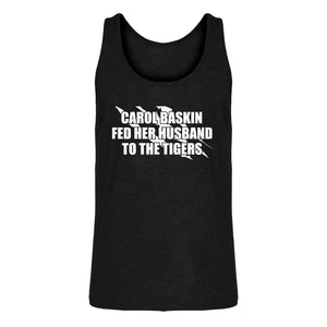 Mens Carole Baskin Fed Her Husband to the Tigers Jersey Tank Top