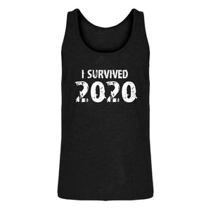 Mens I Survived 2020 Jersey Tank Top