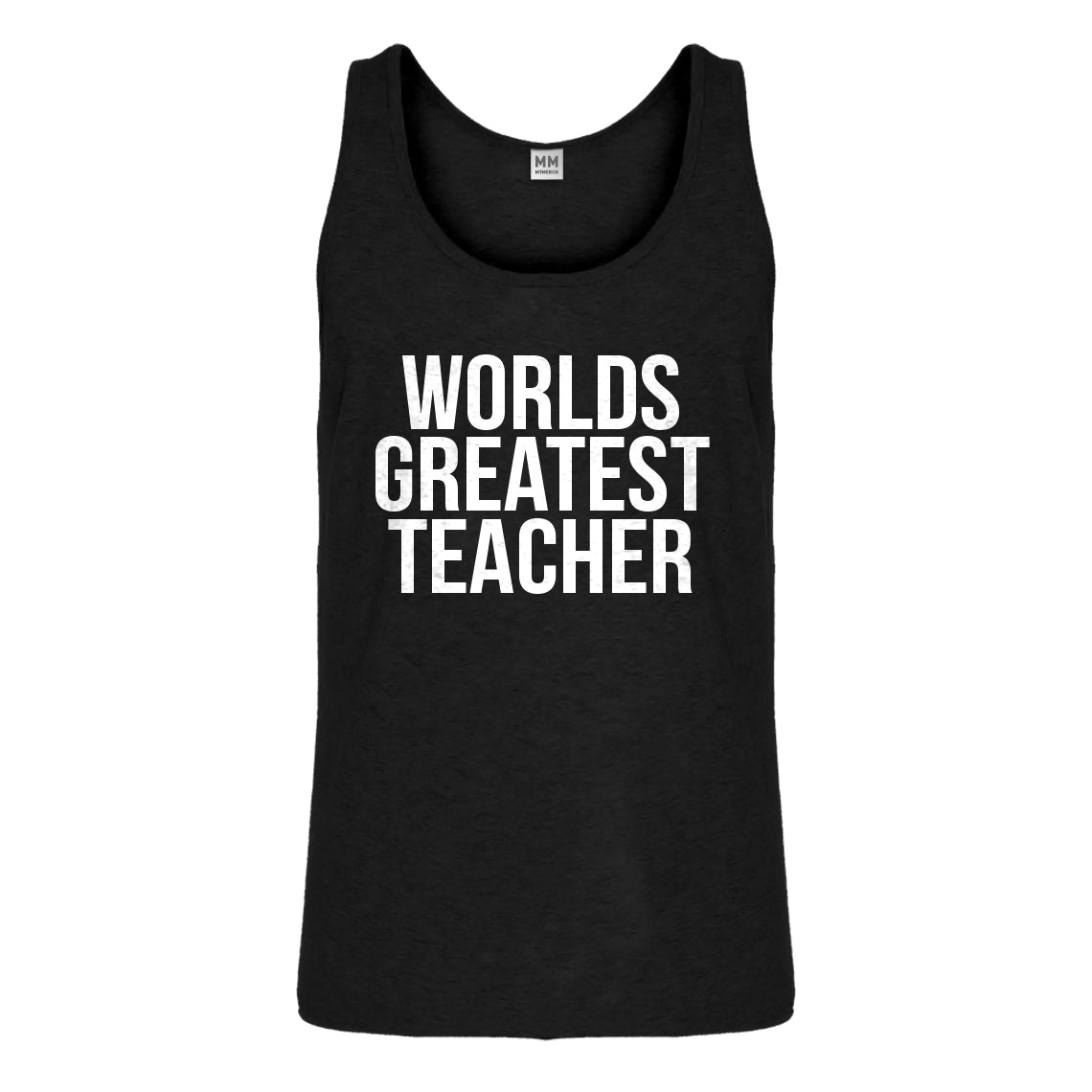 Tank Worlds Greatest Teacher Mens Jersey Tank Top