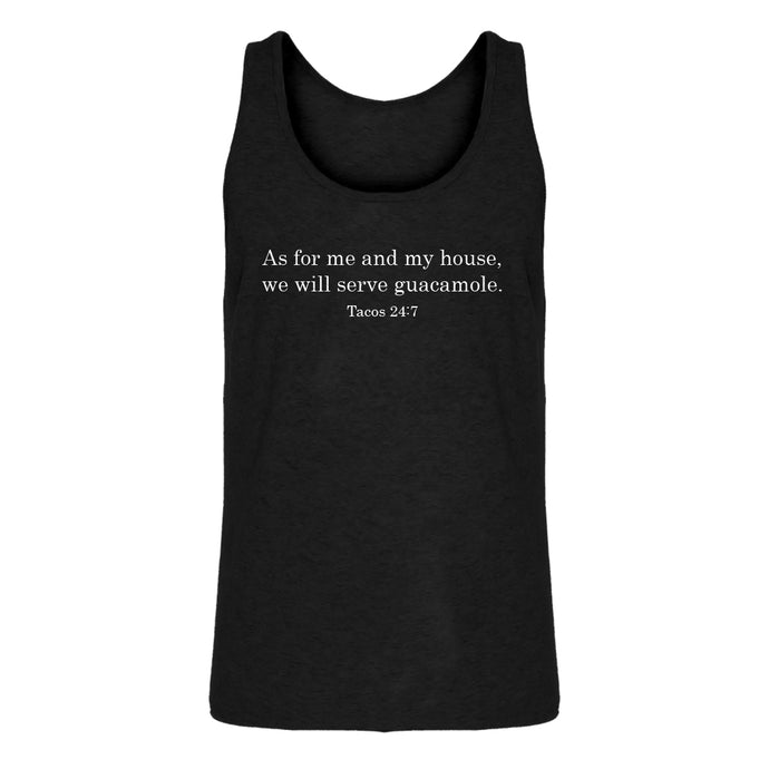 Mens As For Me and My House we Will Serve Guacamole Jersey Tank Top