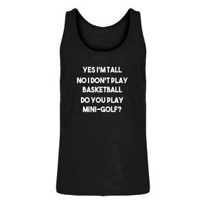 Mens Yes I'm Tall Jersey Tank Top
