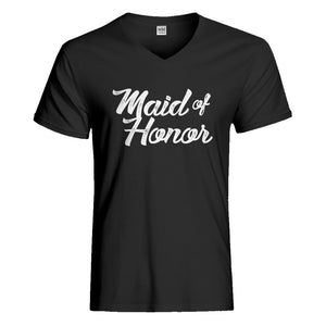 Mens Maid of Honor Vneck T-shirt