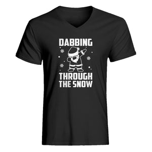 Mens Dabbing through the Snow V-Neck T-shirt