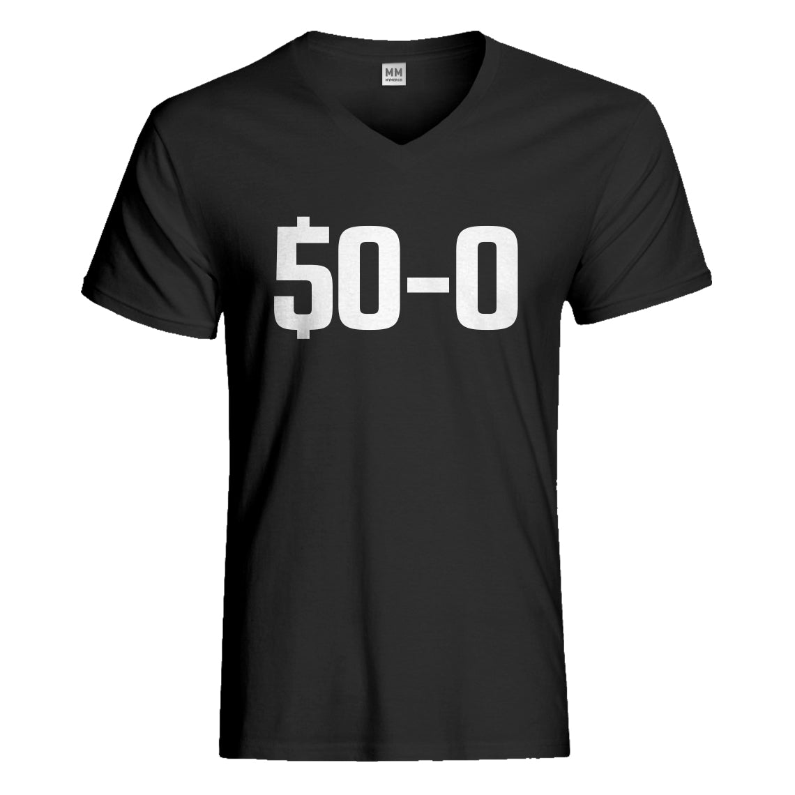 Mens 50-0 Undefeated Vneck T-shirt