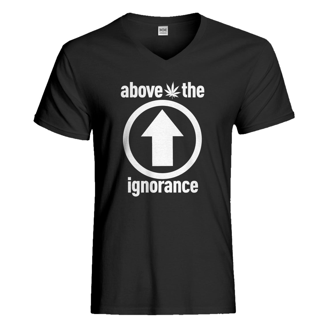 Mens Above the Ignorance Vneck T-shirt