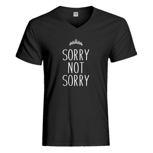Mens Sorry Not Sorry Vneck T-shirt