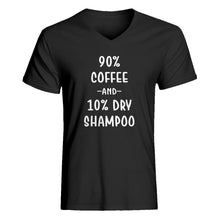 Mens 90% Coffee 10% Dry Shampoo Vneck T-shirt