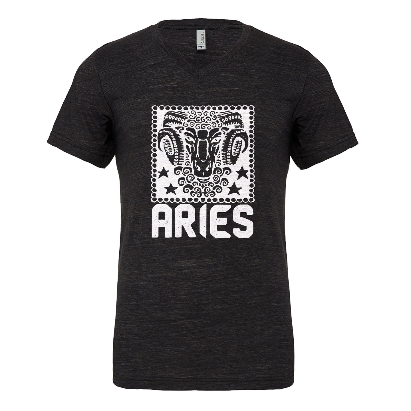 Mens Aries Zodiac Astrology Vneck T-shirt