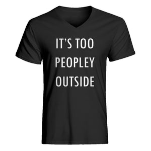 Mens Too Peopley Outside Vneck T-shirt
