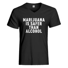 Mens Marijuana is Safer Vneck T-shirt