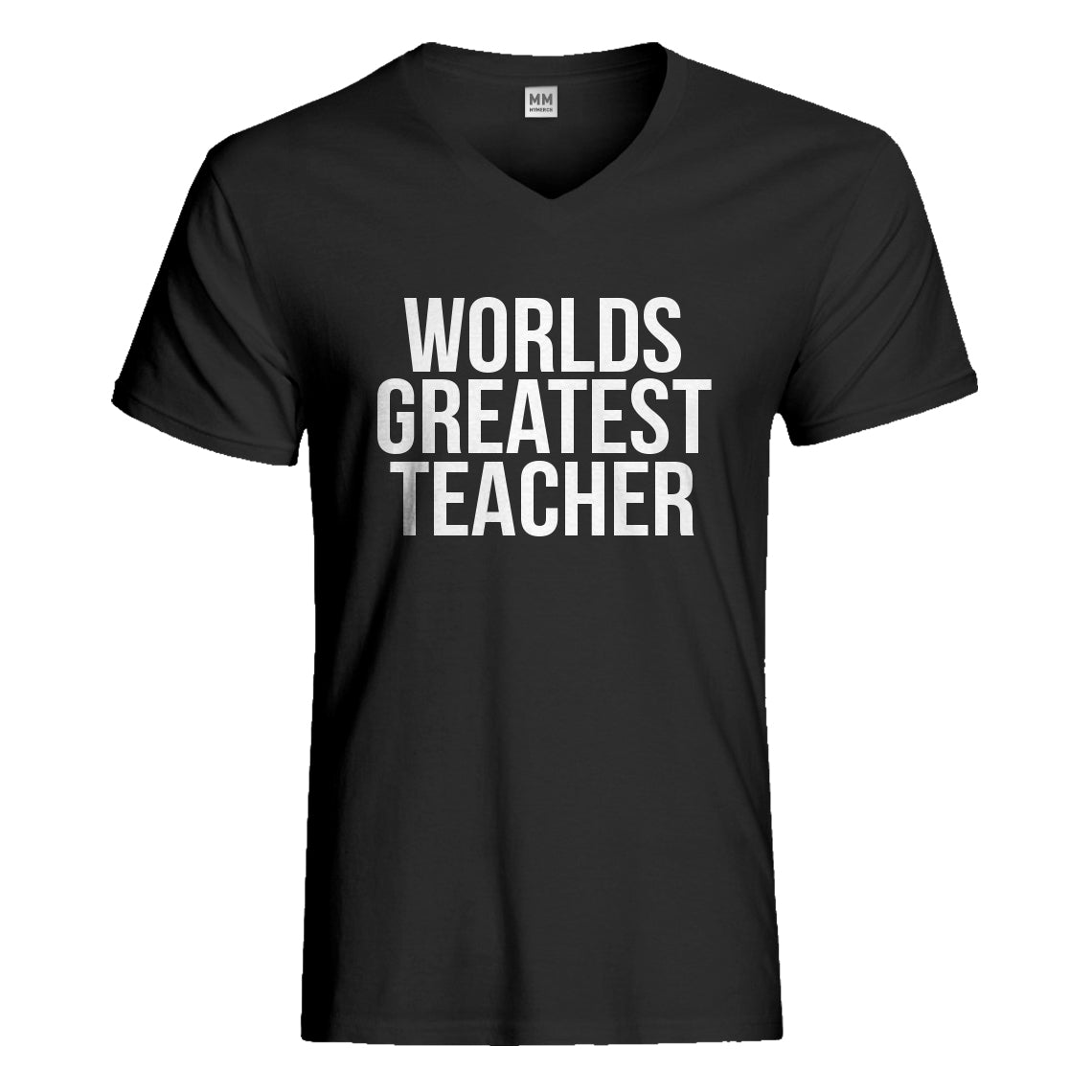 Mens Worlds Greatest Teacher Vneck T-shirt