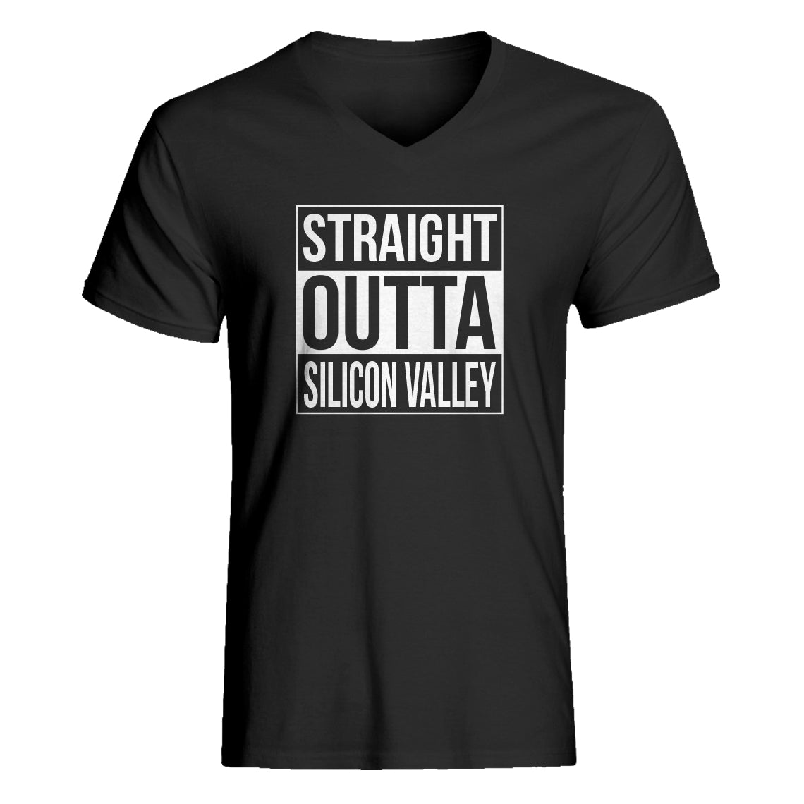 Mens Straight Outta Silicon Valley Vneck T-shirt