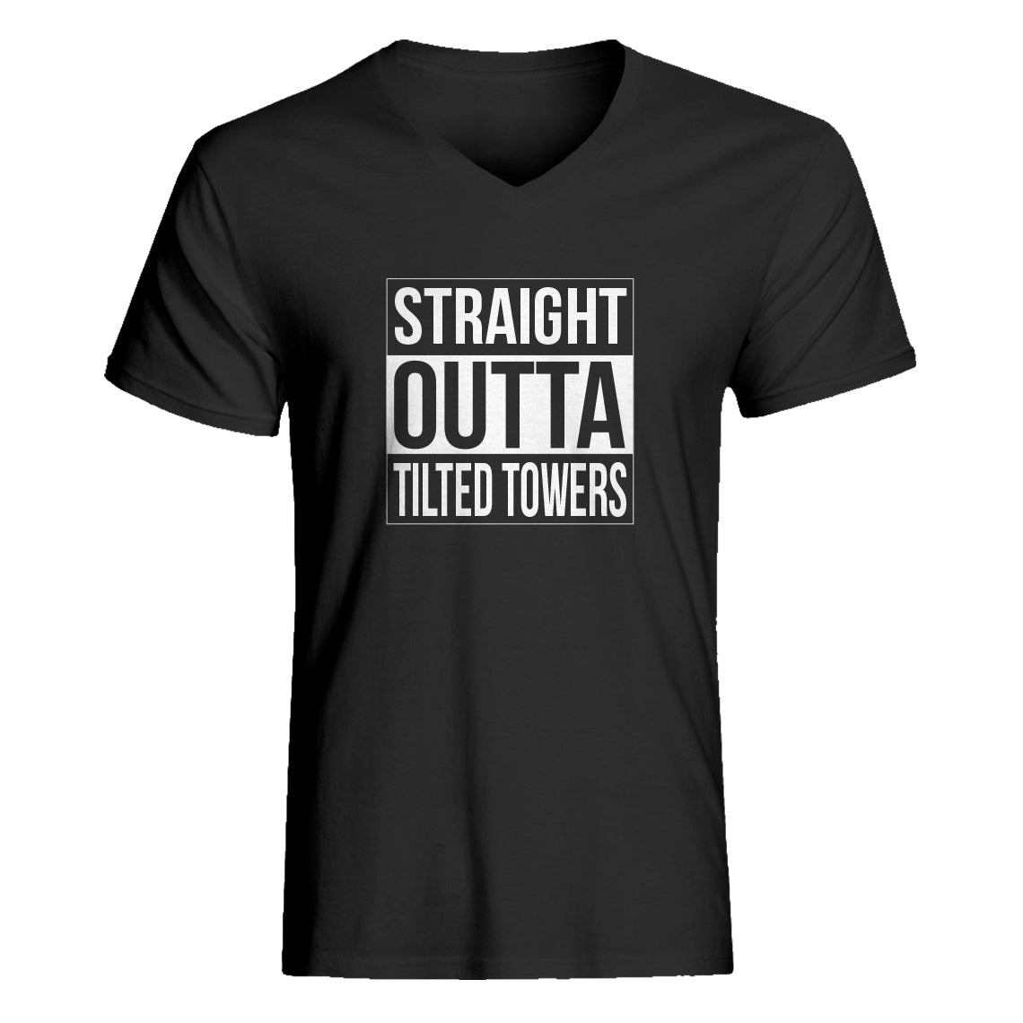 Mens Straight Outta Tilted Towers Vneck T-shirt