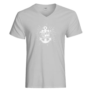 Mens Love is my Anchor Vneck T-shirt