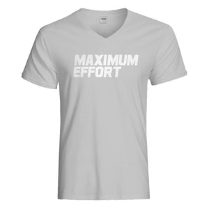 Mens Maximum Effort Vneck T-shirt