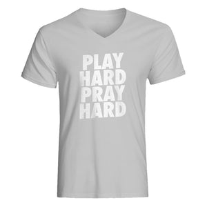 Mens Play Hard Pray Hard Vneck T-shirt