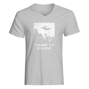 Mens I Want to Believe V-Neck T-shirt