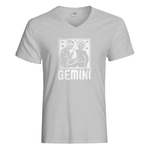 Mens Gemini Zodiac Astrology Vneck T-shirt
