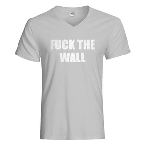 Mens Fuck the Wall Vneck T-shirt