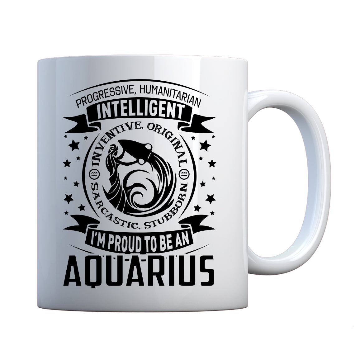 Mug Aquarius Astrology Zodiac Sign Ceramic Gift Mug
