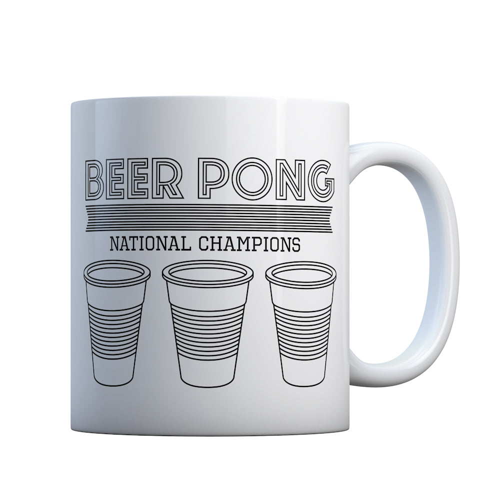 Beer Pong National Champions Gift Mug