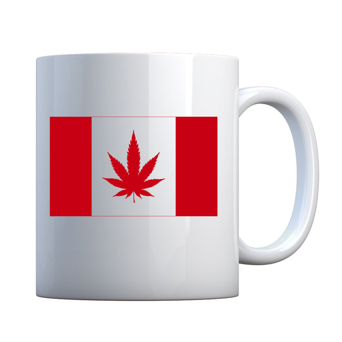 Canadian Marijuana Flag Ceramic Gift Mug