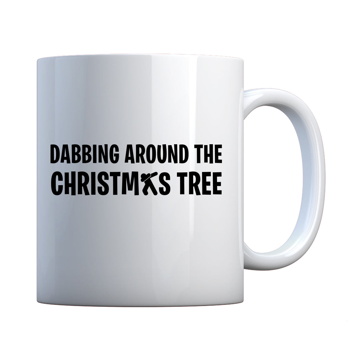Dabbing Around the Xmas Tree Ceramic Gift Mug