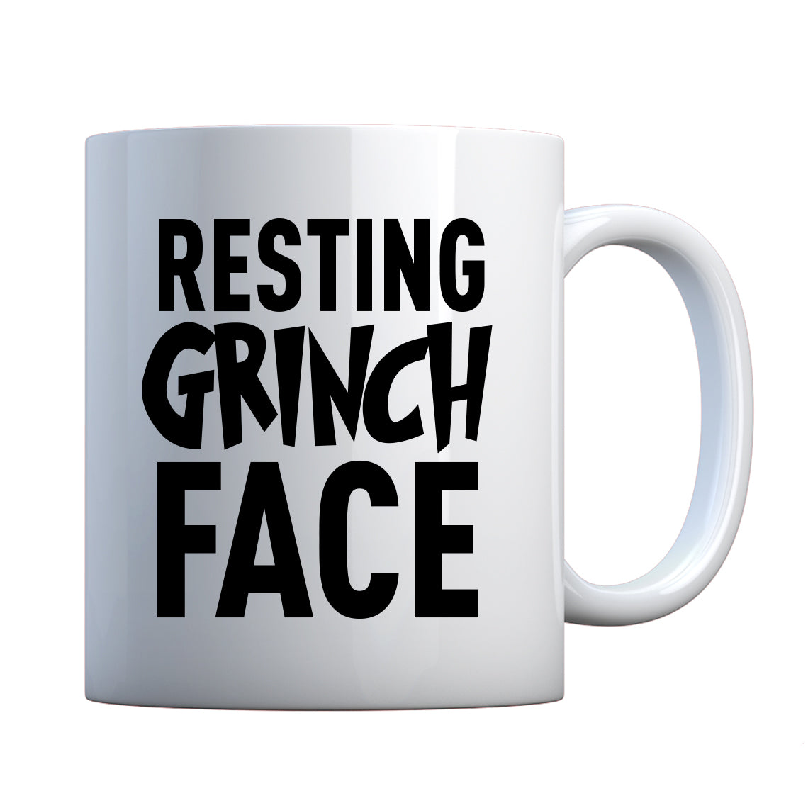 Resting Grinch Face Ceramic Gift Mug