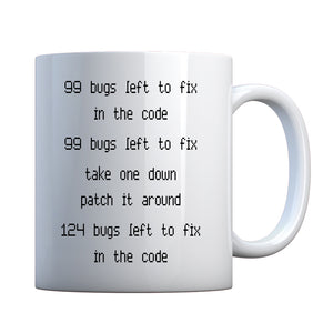 Mug 99 Bugs in the Code Ceramic Gift Mug
