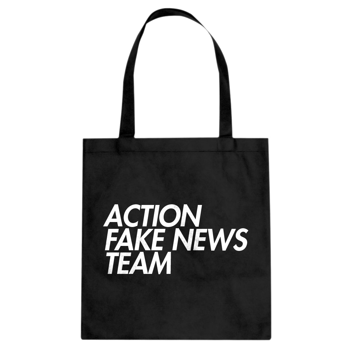 Tote Action Fake News Team Canvas Tote Bag
