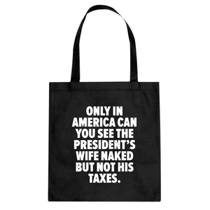Only in America Cotton Canvas Tote Bag