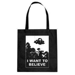 I Want to Believe, Morty Cotton Canvas Tote Bag