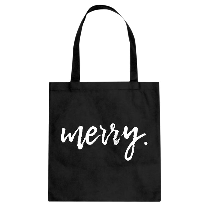 Merry. Cotton Canvas Tote Bag