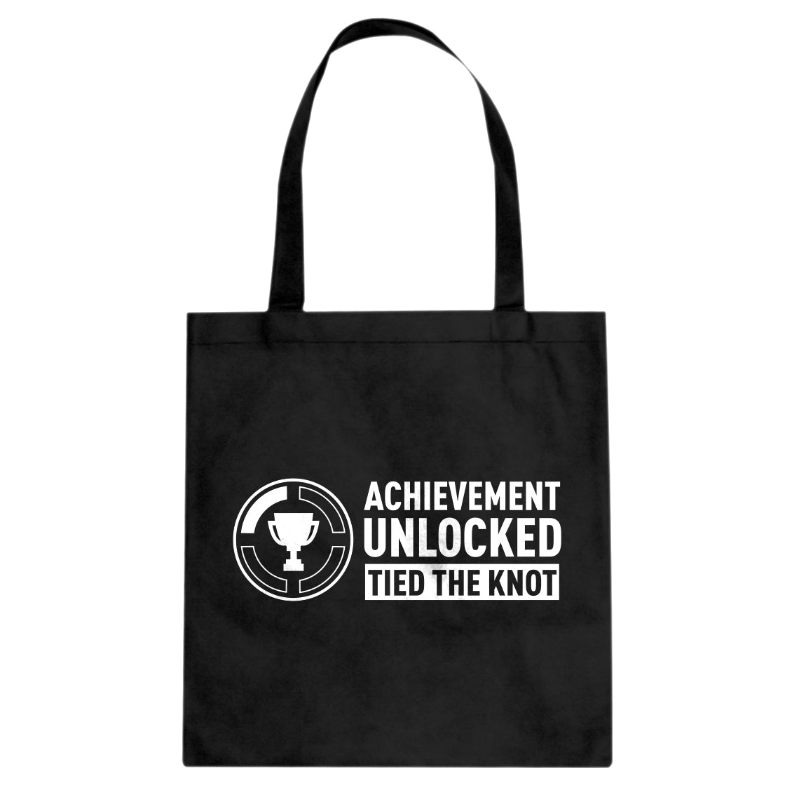 Achievement Unlocked Tied the Knot Cotton Canvas Tote Bag