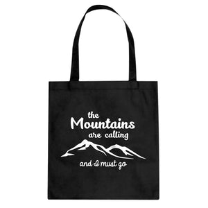 The Mountains are Calling Cotton Canvas Tote Bag