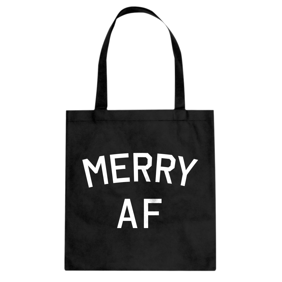 Merry AF Cotton Canvas Tote Bag