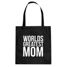 Tote Worlds Greatest Mom Canvas Tote Bag